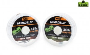 PLECIONKA - FOX EDGES™ Armadillo™ Shock & Snag Leader Light Camo 45lb 20,4kg 20m CAC456